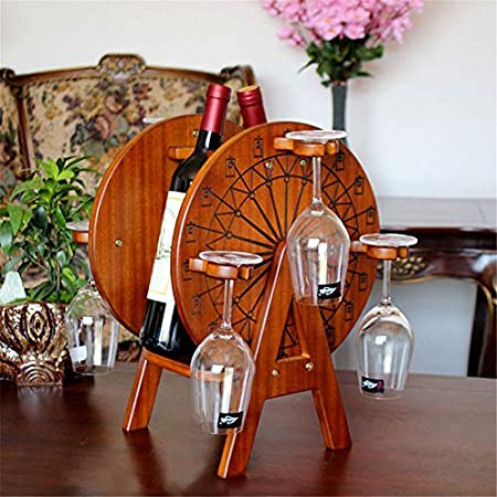 Shocly 2 Botellas EstanteríA De Vino Botellero para Estante Botellas Agua O Refrescos Escaparate Estante Tinto DecoracióN Moda Creativo
