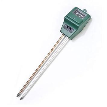 Hemore Medidor de Humedad del Suelo 3 en 1 medidor de Sensor de Humedad PH Detector de Suelo Prueba de Humedad Agua para jardín Planta Flor 1pc Verde: ...
