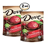 Pack of 2, Dove Real Cranberries Dipped in Silky Smooth Dove Dark Chocolate, 17 oz bag