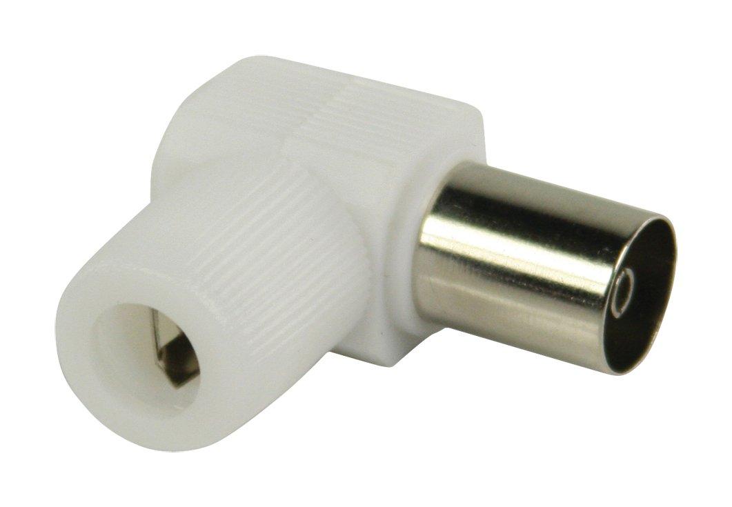 Connecteurs coaxiaux sans Soudure coud/és /à fiche coaxiale Femelle Blancs