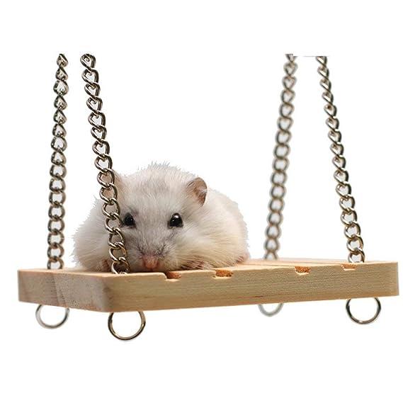 Anjing Columpio de Madera para Mascota hámster Sirio Gerbil ratón ...