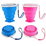 Best Collapsible Cups - Silicone Collapsible Travel Cup Set, Accmor 2 Pack Review