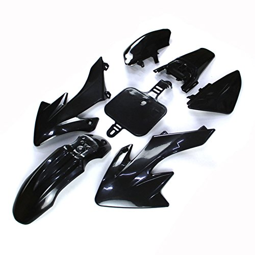 TC-Motor Black Body Work Plastic Fender Fairing Kit For Honda XR50 CRF50 Chinese 50cc 70cc 90cc 110cc 125cc 140cc 150cc 160cc Dirt Pit Bike (Fairing Plastic Body)