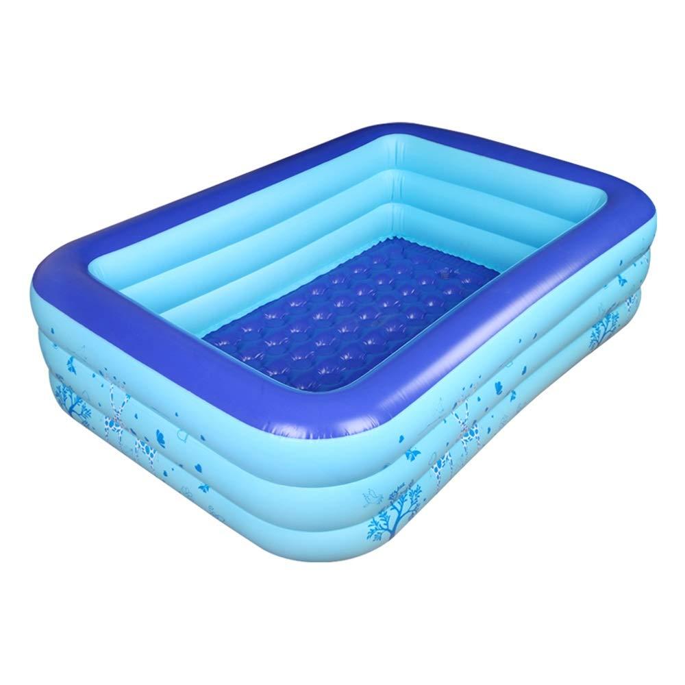 インフレータブルバスタブ、子供の増粘断熱バブル底折りたたみポータブル屋外パドリングプールは2-3人を収容することができます (サイズ さいず : 150*95*47cm) 150*95*47cm  B07RTMNKMY