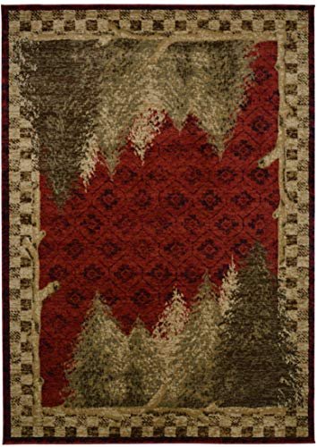 Mayberry Rugs AD8340 8X10 AMER DES Forest Area Rug, 7'10