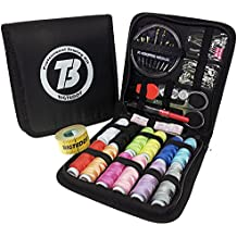 BIGTEDDY 72pc Beginner Embroidery Sewing Kit Tools Travel Emergency Sew Supplies Accessories for Home Office Dress and Clothes Repair Threads and Needles and much more