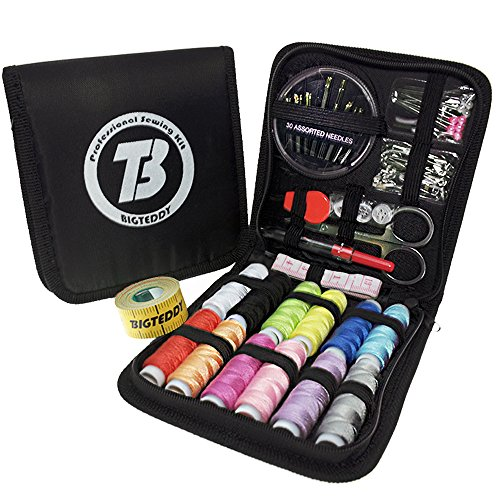 BIGTEDDY - 72pc Beginner Embroidery Sewing Kit Tools Travel Emergency Sew Supplies Accessories for Home Office Dress and Clothes Repair Threads and Needles and much more