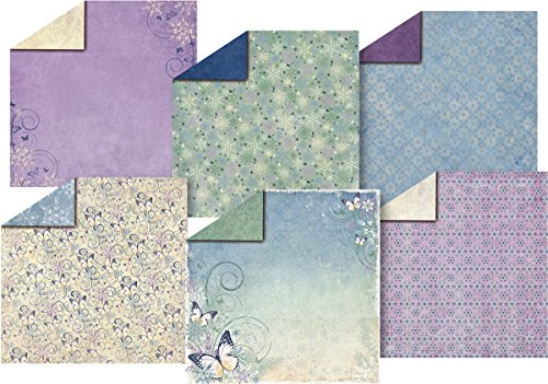 Butterfly Double Sided Paper - Hot Off The Press Winter's Butterfly Double-Sided Paper Pack 12/Pkg, 12