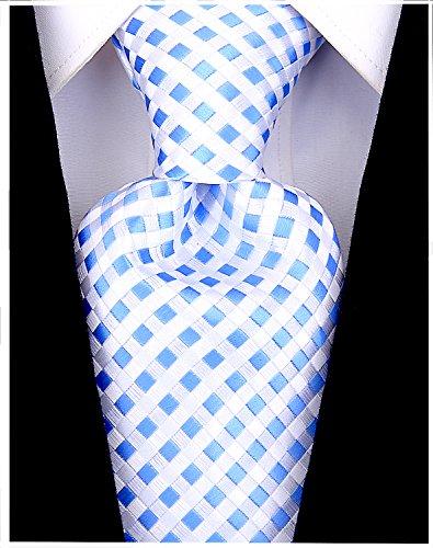 (Checkerboard Ties for Men - Woven Necktie - Light)