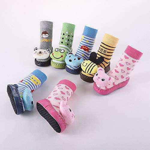 Rubber Baby Shoe Socks Girl Non Slip Socks High Baby Toddler Skidders Girls Socks About 14cm, Deer