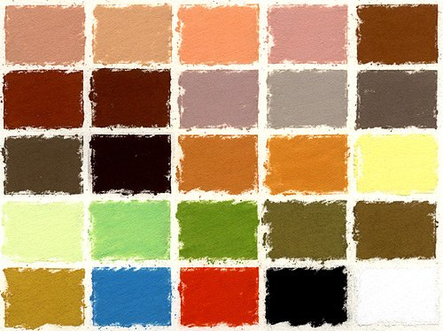 Girault Portrait Set of 25 Soft Pastels by Girault