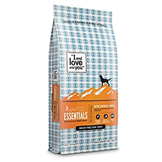 """""""I and love and you"""" Naked Essentials Dry Dog Food - Natural Grain Free Kibble, Chicken + Duck, 11-Pound Bag"""