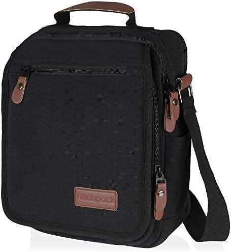 Vintage, Heavy Duty, Canvas Messenger Bag, with Anti-theft Pocket | Wear Over Shoulder or Crossbody
