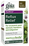 Best Acid Reflux Treatments - Gaia Herbs Rapidrelief Reflux Relief Tablets, 45 Count Review