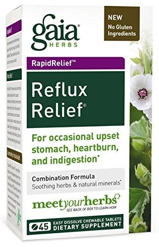 Gaia Herbs Rapidrelief Reflux Relief Tablets, 45 Count (3 ()