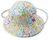 Zutano Baby Girls' Cups And Cakes Sun Hat, White, 18 Months