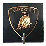 Agility Bathroom Wall Hanger Hat Bag Key Adhesive Wood Hook Vintage Lamborghini Logo's Photo Review