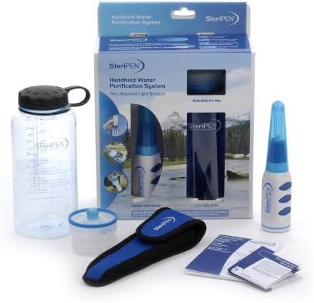 Color Blanco y Azul Sistema de purificaci/ón de Agua por esterilizaci/ón Ultravioleta SteriPen Classic port/átil