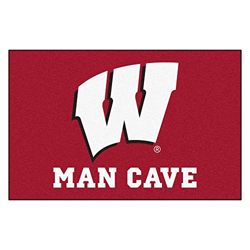 FANMATS 14708 University of Wisconsin Nylon Universal Man Cave Starter Rug