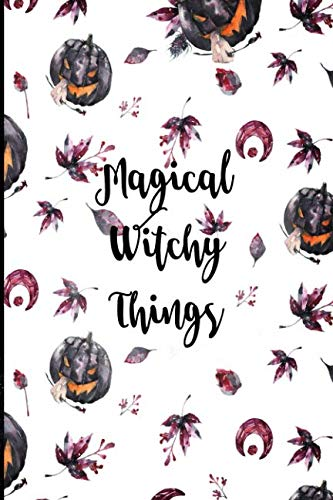 Magical Witchy Things: Halloween Themed Blank Lined Journal 6x9 in. ()