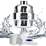 ShowDoo 10-Stage Shower Water Filter with 2 Cartridges - For Any Shower Head and Handheld Shower - Removing Chlorine,Impurities and Hard Water