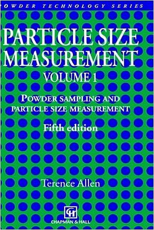 Particle Size Measurement Volume 1 (Particle Technology Series)