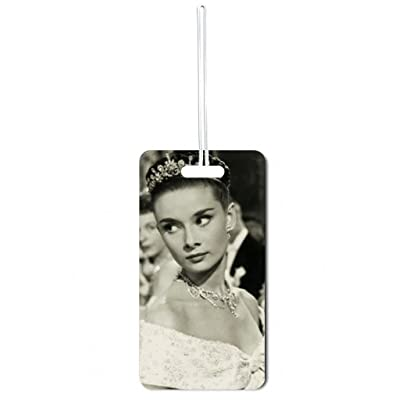 Audrey Hepburn-Black and White Lea Elliot Set of 5 Luggage Tags with Customizable Back