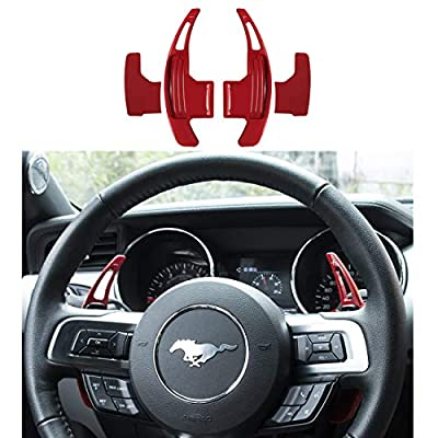 Bonbo Red CNC Billet Aluminum Steering Wheel Paddle Shifter Extension for Ford Mustang 2015 2016 2020 2020 2020 2020: Automotive
