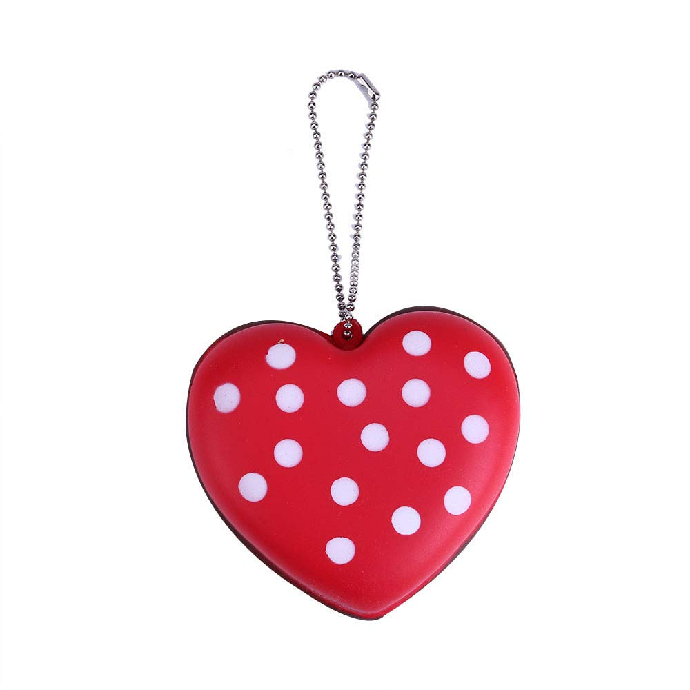 Cyhulu Scented Slow Rising Squishies Toy, Kawaii Mini Cake Heart Key Pendant for Good Decor and Stress Relief (Red, One size)