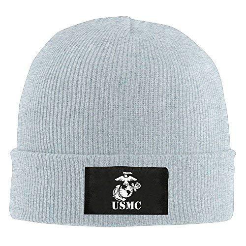 ji jing Eagle Globe Anchor USMC Marine Corps - Adult Knit Hat Beanies Hat Winter Warm Cap Ash