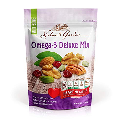 Deluxe Thin - Nature's Garden Omega-3 Deluxe Nut Mix, 26 oz (Pack of 1)