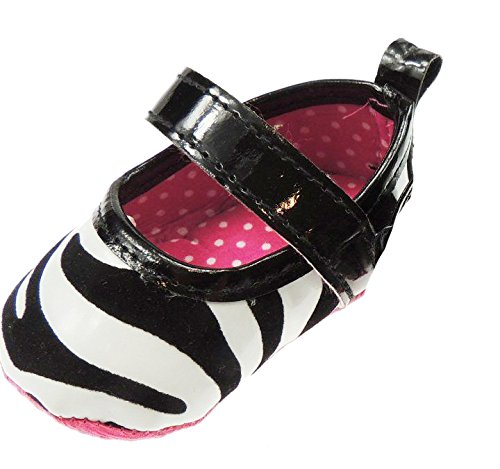 Bañador para bebé animal print Correa de Velcro Primero Walker Zapatos Sandalias Vaca o de jirafa blanco y negro