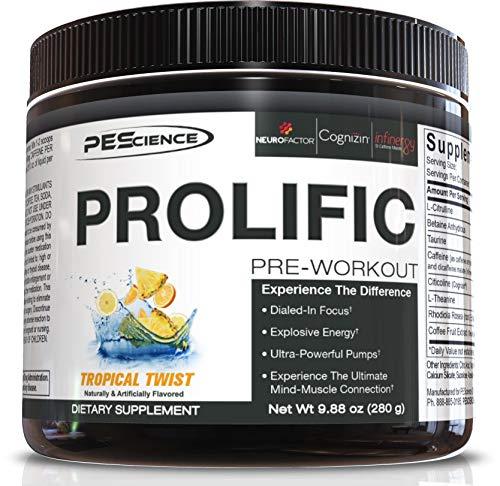 PEScience Prolific Pre, Tropical Twist, 40 Scoop