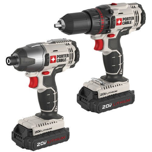 PORTER-CABLE PCCK604L2 20V Max Lithium Ion 2-Tool Combo Kit by PORTER-CABLE
