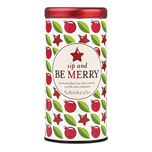 The Republic Of Tea Sip And Be Merry Holiday Gift Tea Bags, 50 Tea Bag Tin