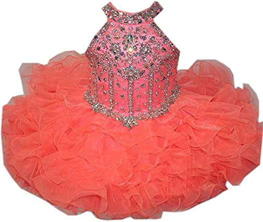 M/_RAC Infant Girls Flowers Mini Gowns Tutu Pageant Cupcake Dresses