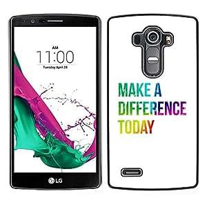 // PHONE CASE GIFT // Duro Estuche protector PC Cáscara Plástico Carcasa Funda Hard Protective Case for LG G4 / BIBLE Make A Difference Today /