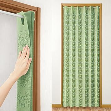 (長200㎝, グリーン) 間仕切りサッとパタパタカーテン