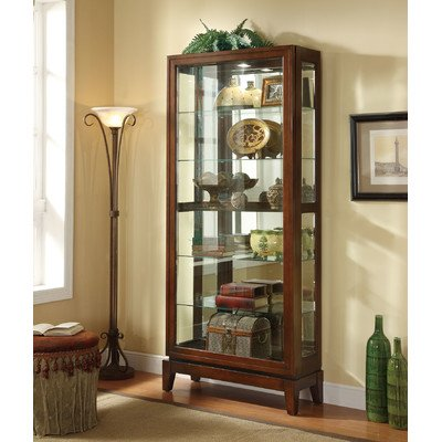 Coaster Home Furnishings Traditional Curio Cabinet, Dark ()