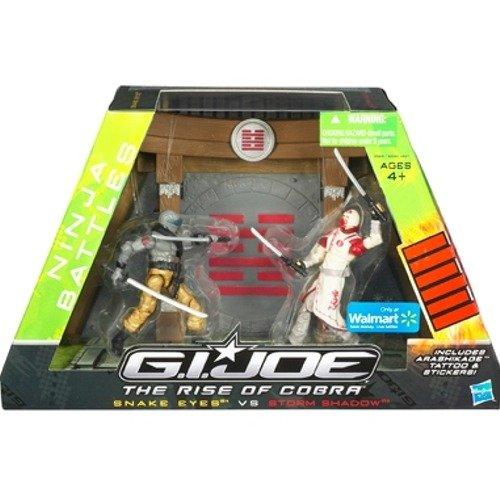 GI Joe Movie The Rise of Cobra Exclusive Ninja Battles Snake Eyes Vs. Storm Shadow ()