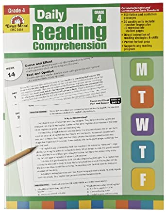 Amazon.com: Evan Moor Book Daily Reading Comprehension - Grade 4 ...