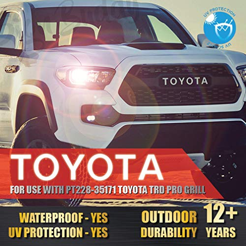 Toyota Tacoma TRD PRO Grille Letters 2016 2017 2018 Sticker Front Grill for (Part Number PT228-35171) Vinyl Decal [Gloss Super ()
