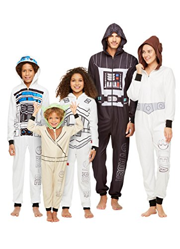 Jammin Jammies Star Wars Family Pajamas, Womens Princess Leia Blanket Sleeper Onesie With Hood and Pillow Case, by