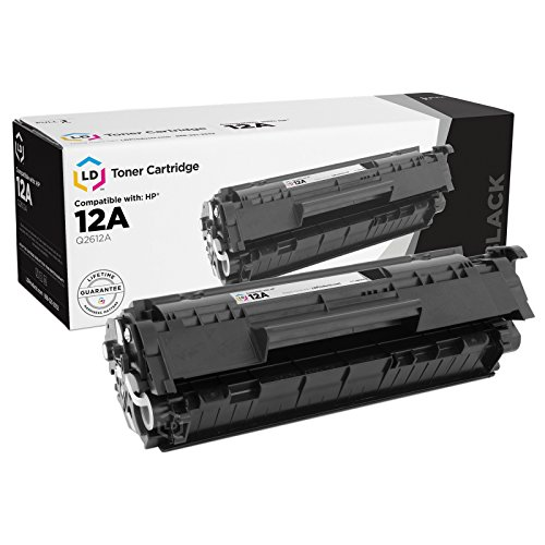 LD Compatible Toner Cartridge Replacement for HP 12A Q2612A (Black) 1010 Remanufactured Toner Cartridge