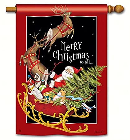 """New Christmas Yard Flags 28/"""" x 40/"""" Breeze Art made with Solar Silk Polyester"""