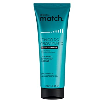 Amazon.com : Linha Match (Tonico do Crescimento) Boticario - Shampoo Acelerador 250 Ml - (Boticario Match (Growth Tonic) Collection - Boosting Shampoo 8.45 ...