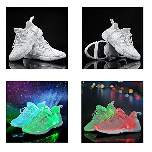 8fabf1d1e595 Idea Frames Fiber Optic LED Light Up Shoes White For Women Men Girls ...