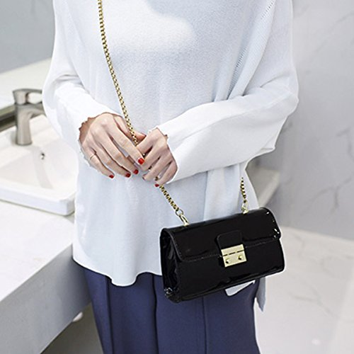 Bag Shoulder For LABANCA Ladies Cross Chain Handbags Fashion Black PU Evening Elegant Party Purse body Bag vBfzw