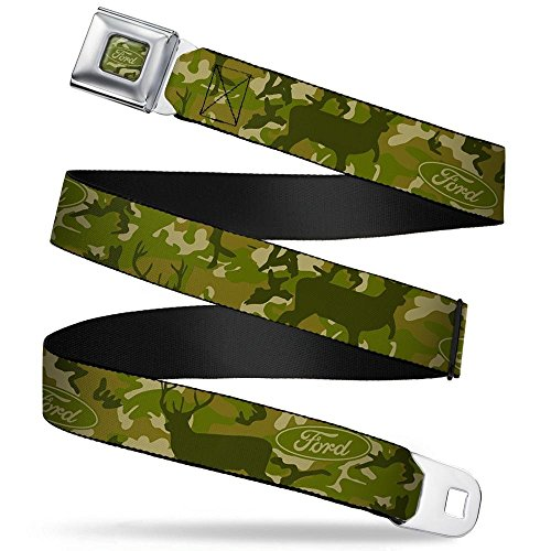 Buckle-Down Seatbelt Belt - FORD Deer Hunter Camo Olive - 1.0