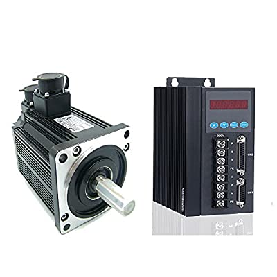 1500W high torque easy servo motor 3D Printer industrial driver encoder cable 6N.m 6A AC servo motor + Single or 3 Phase 220V AC Servo Motor Driver match motor 750W-2.3KW